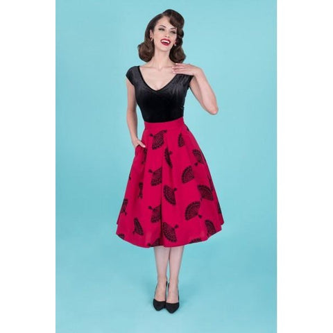 Fanny Flared  RED Skirt
