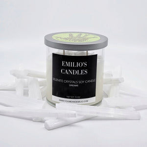 Selenite Crystals Soy Candle