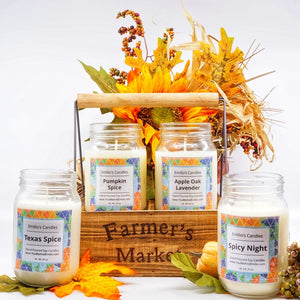 Farmer's Market Soy Candle Mason Jars Wooden Crate