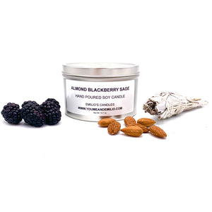 Almond Blackberry Sage Soy Candle