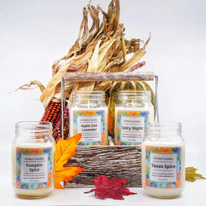 Soy Candle Mason Jars Wooden Crate / Limited Edition