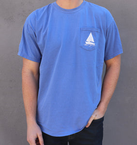 Short Sleeve Sailboat Tee - Flo Blue
