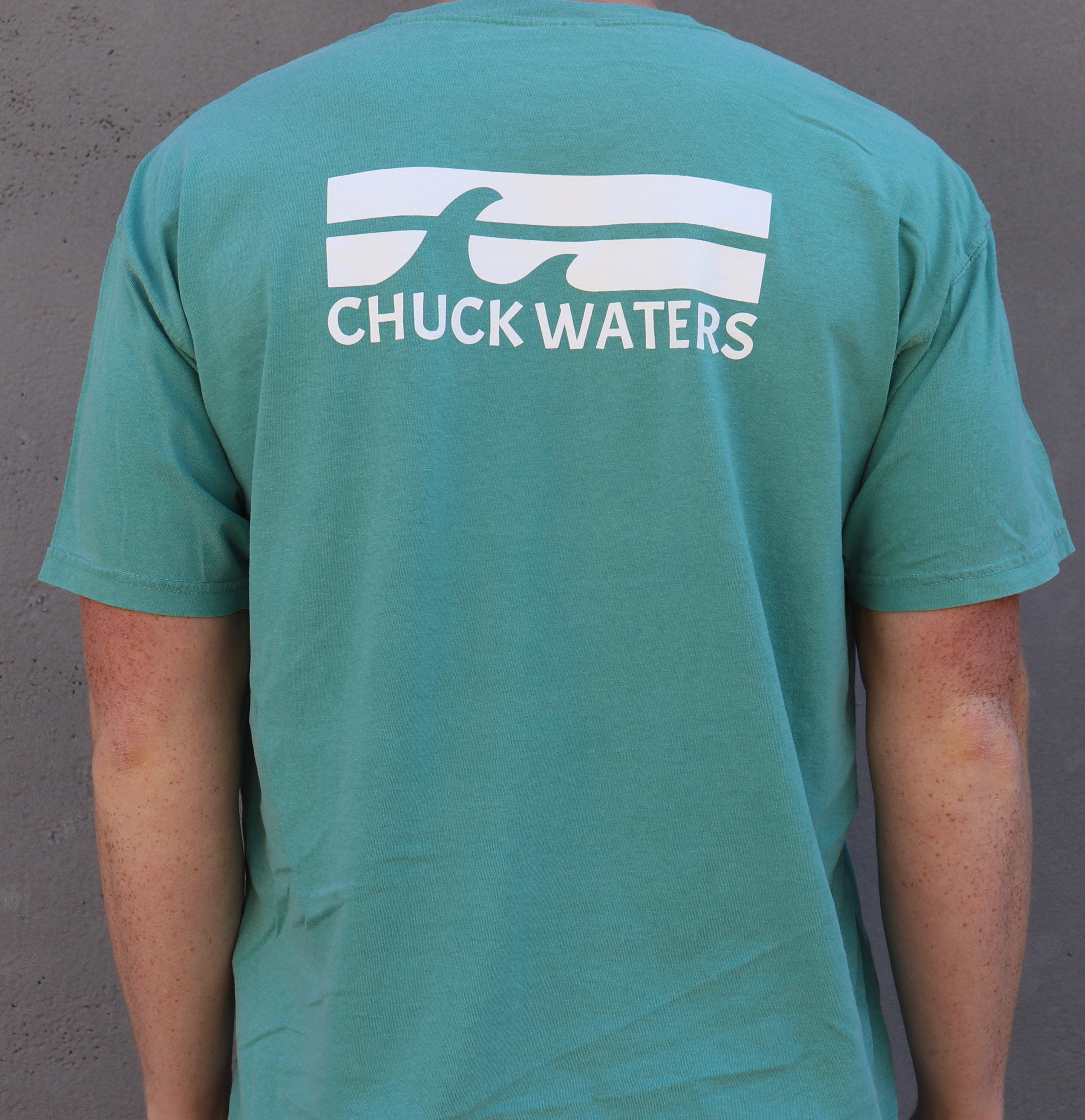 Short Sleeve 2 Wave Tee - Sea Foam