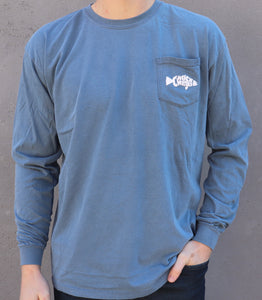 Long Sleeve CW Fish Tee - Blue Jean
