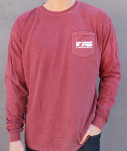 Long Sleeve 2 Wave Tee - Brick