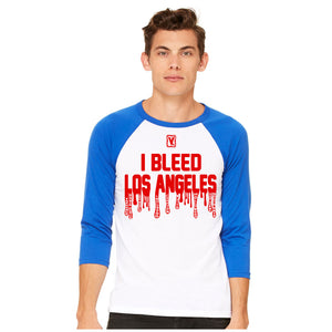 I Bleed Los Angeles 3/4 Sleeve Tee