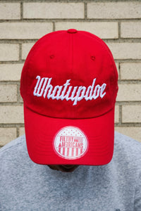 WHATUPDOE BASEBALL CAP RED