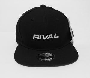 "Rival Snapback - Black with White ""RIVAL"" Logo"