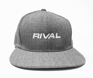 New HiTek Snapback - Heather Grey w/RIVAL Logo - Last two!