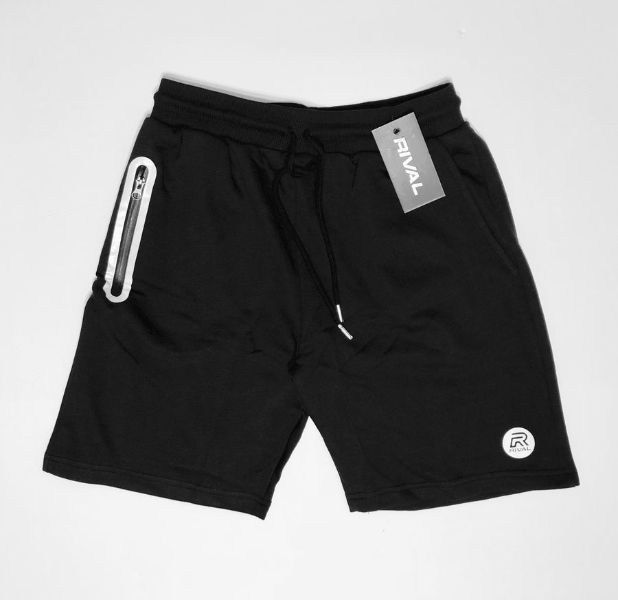 Rival Performance Shorts - Black with White logos (XL, XXL)