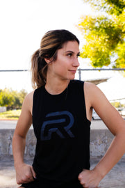 "*New BLVCK - Ladies Muscle Tank  ""R"""