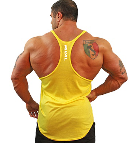 Rival Stringer Tank Top - Yellow | Fitness & Performance Clothing | RIVAL