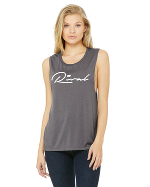 Cursive - Ladies Muscle Tank