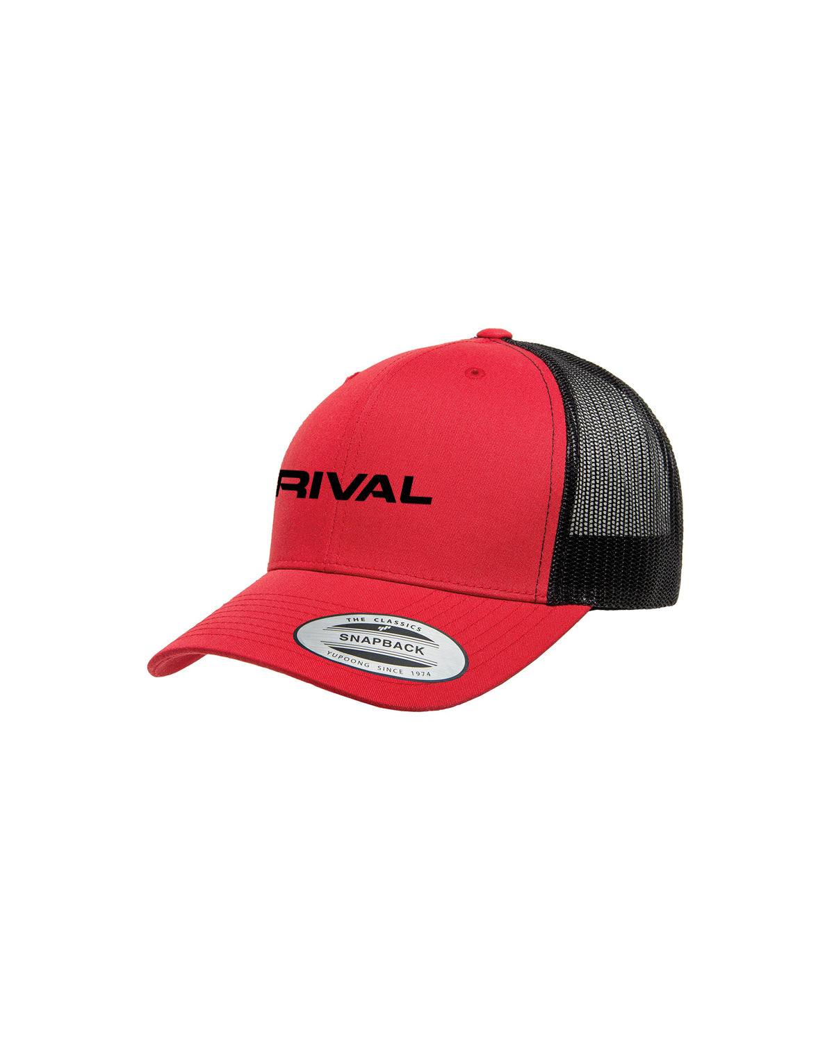 Red Black Trucker Hat. The Rival Collection 7bfc186c54d4