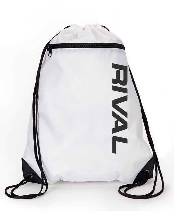 Rival Drawstring Backpack with Zipper | Fitness & Lifestyle Clothing