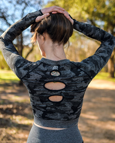 2020 Camo Long Sleeve Crop Top