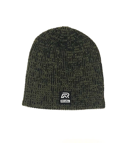 RIVAL Ribbed Marled Beanies- Military Green/Black