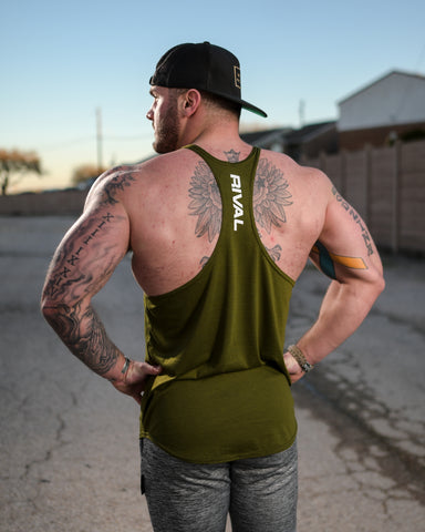 *Rival Stringer Tank Top - Military Green