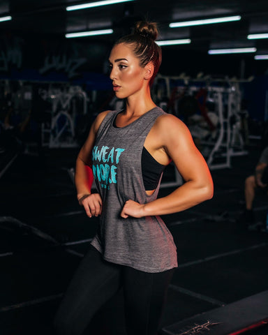 Sweat More/Bitch Less - Asphalt Muscle Tank