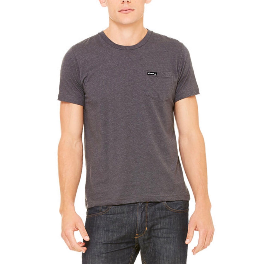 Rival Pocket Tee - (Athletic Fit) DarkGrey Heather (Small)