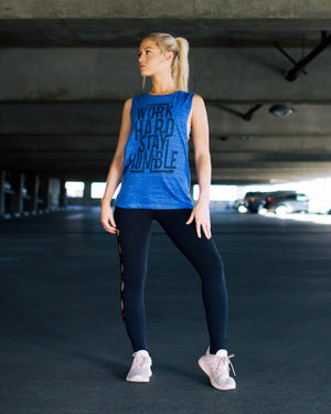 Work Hard - Ladies Muscle Tank