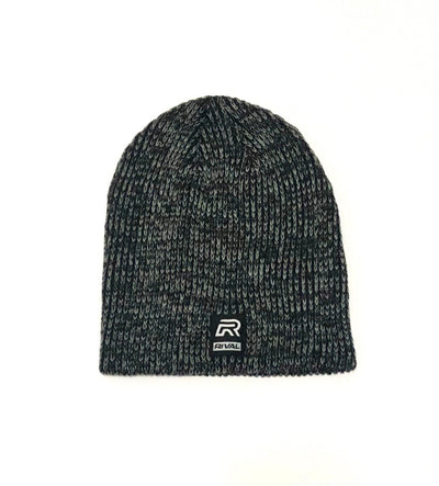 RIVAL Ribbed Marled Beanies - Grey/Black
