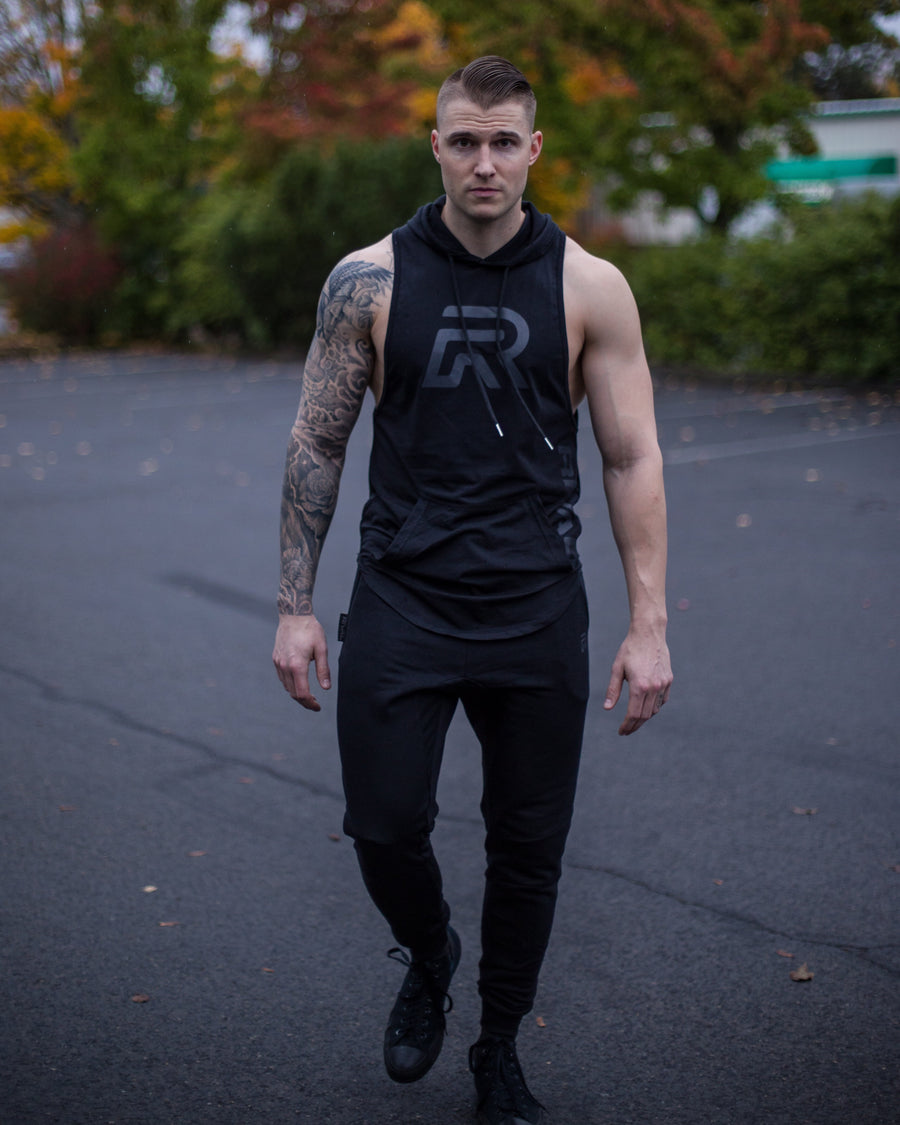 BLVCK Muscle Cut Off Hoodie (S, XL)