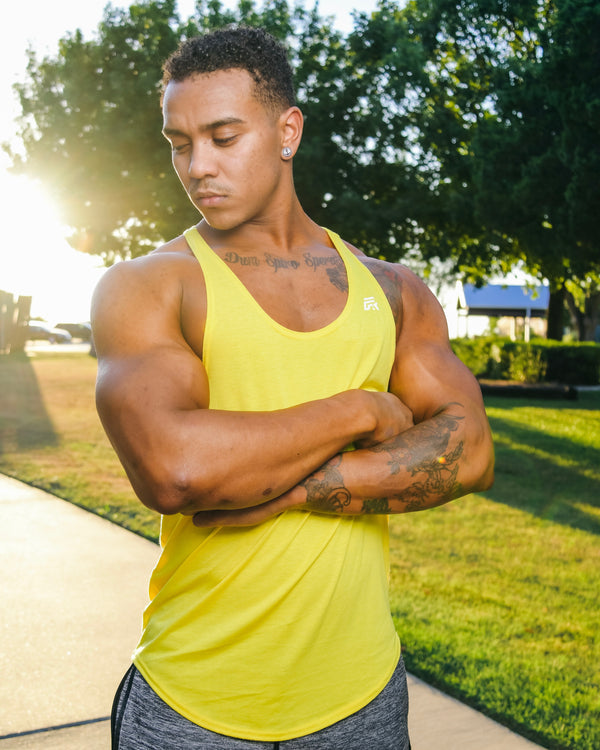 Rival Stringer Tank Top - Yellow