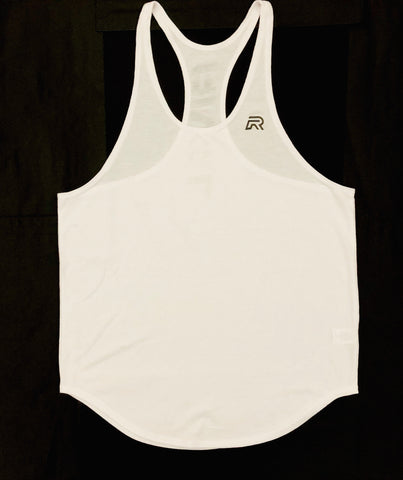 *New Rival Stringer Tank Top - White