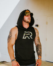 *NEW Rival Muscle Tank Hoodie - Black w/Camo R