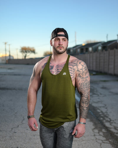 Stringer Tank - Military Green (S,L,XL)