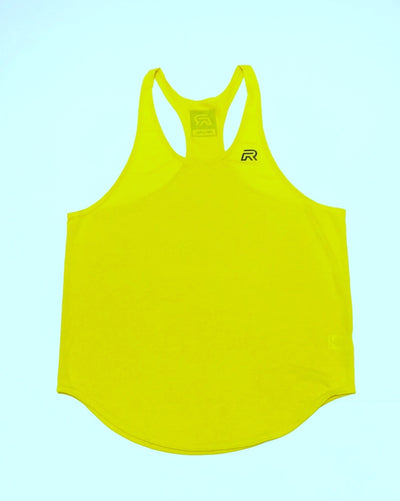 Rival Stringer Tank Top - Yellow - w/Dark Grey logo's