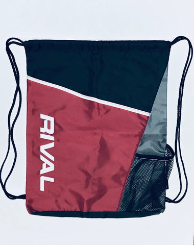 Rival Drawstring Bag with Red Velcro Pouch