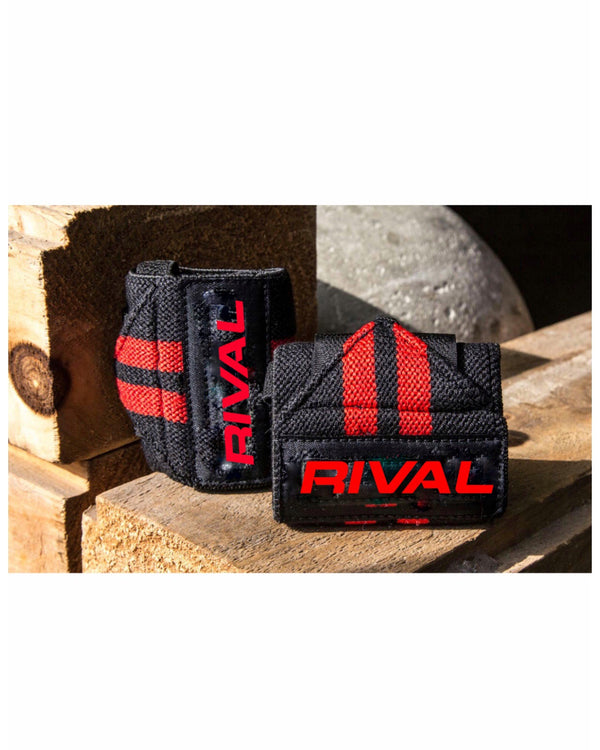Black and Red Rival Wirst Wraps | Fitness Clothing