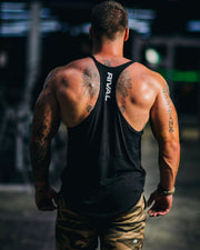 Rival Stringer Tank Top in Black | Fitness & Performance Clothing