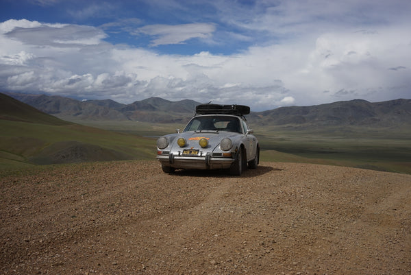 Made it to the top of a huge hill in Mongolia and didn't need a tow