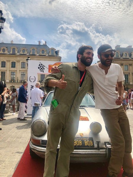 Nico Samaras and Mark Gudaitis finish the Peking to Paris rally