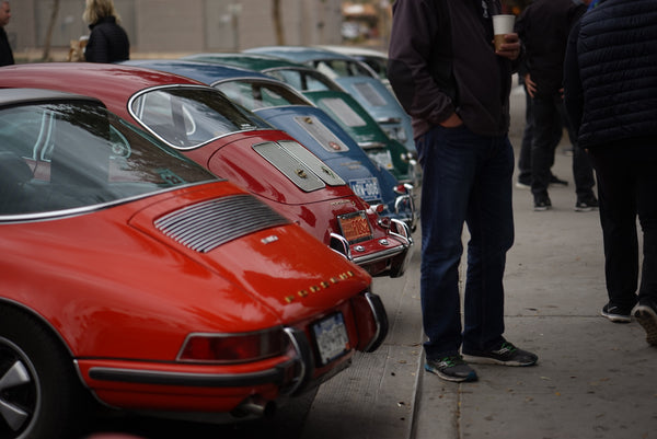 Porsches and Coffee Meetup at Fourtillfour