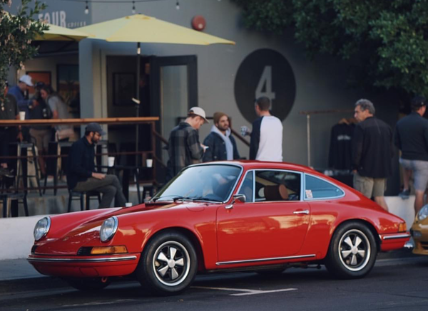 Porsches and Coffee at Fourtillfour every first Saturday of the month in Old Town Scottsdale