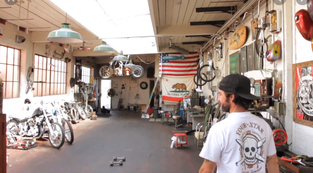 Max Schaaf's Custom Bike Shop in Oakland California was the building that Nico's grandfather built