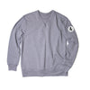 White Patch Long Sleeve Crew