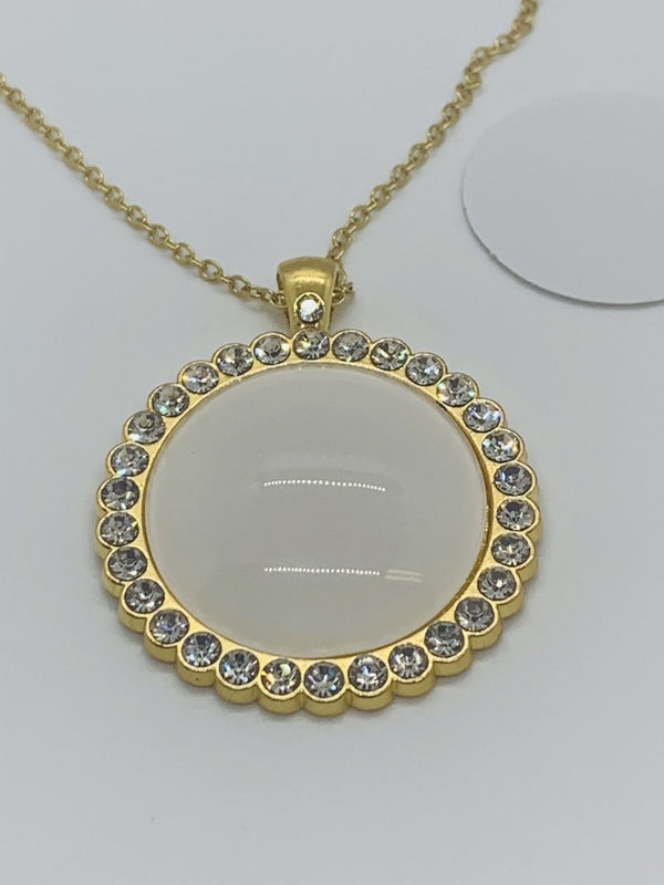 Sublimation Crystal Round Necklace Metal - Inkfinitee Sublimation