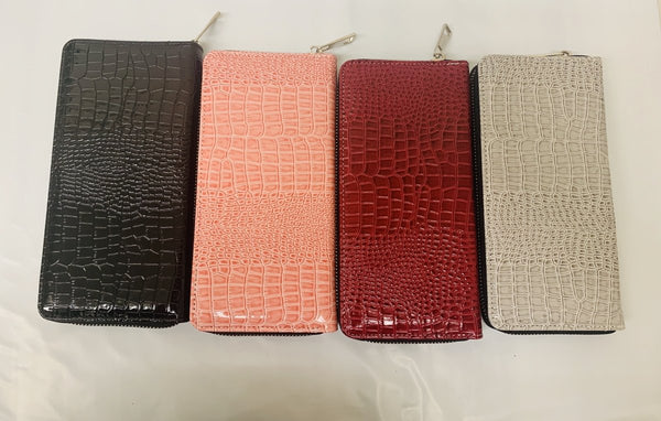 Sublimation Wallet Women's PU Leather Crocodile Skin Inspired - Inkfinitee Sublimation