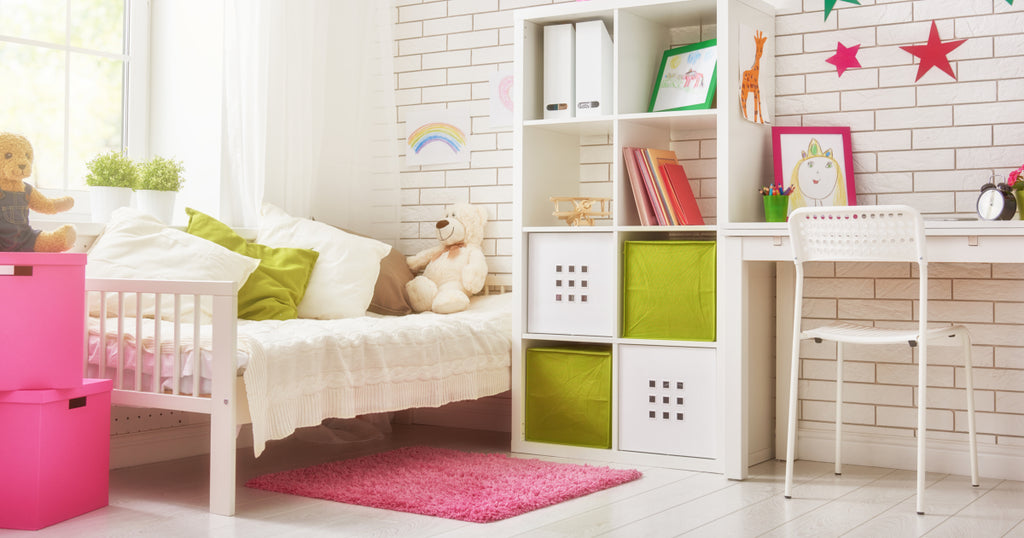 Use light colors to add illusion of space to  your small bedroom.