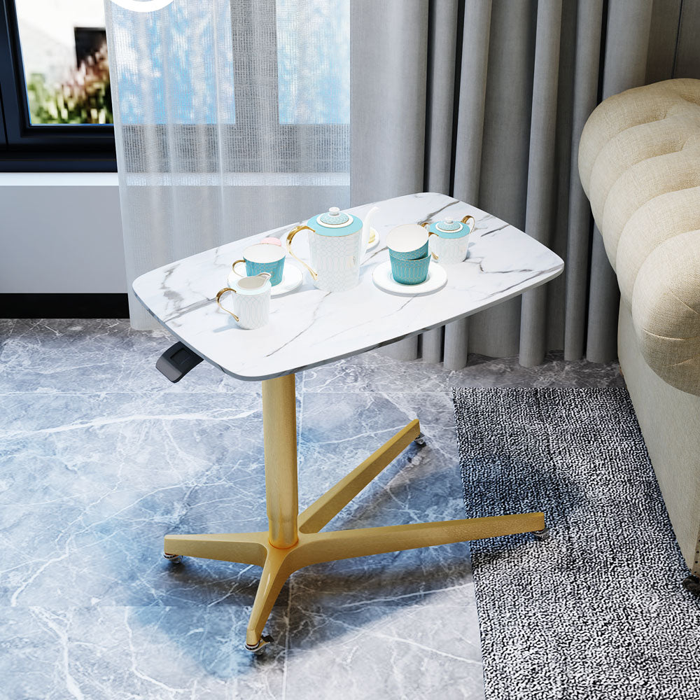 Xena Mobile Side Table <br>(Adjustable Height w/castors)