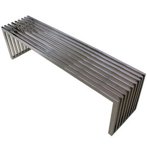 Benz Stainless Steel Bench<br>Contemporary Collection
