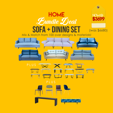 Home Bundle Deal (Sofa + Dining Set)