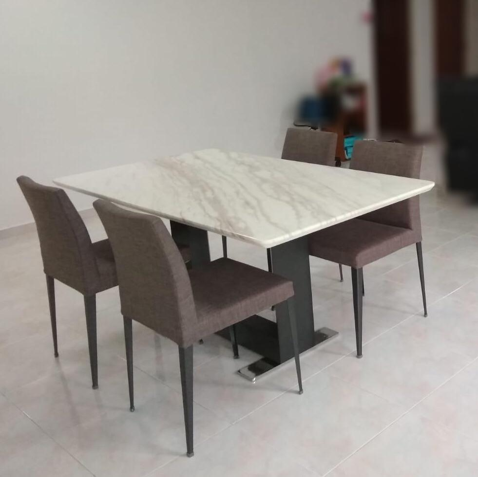 Lenz Marble Dining Table <br> BHS Collection