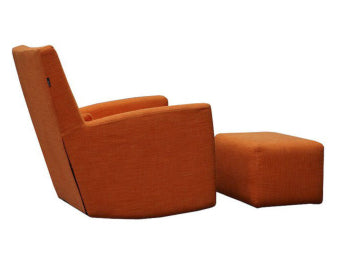 Simone Rocking Chair w/ottoman <br> Contemporary Collection