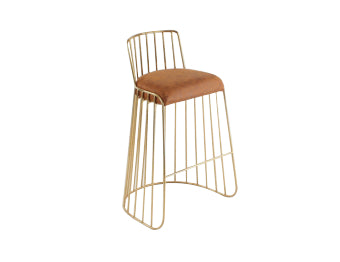 Veil Counter/Bar Stool (with backrest)<br>Modern Classic Collection